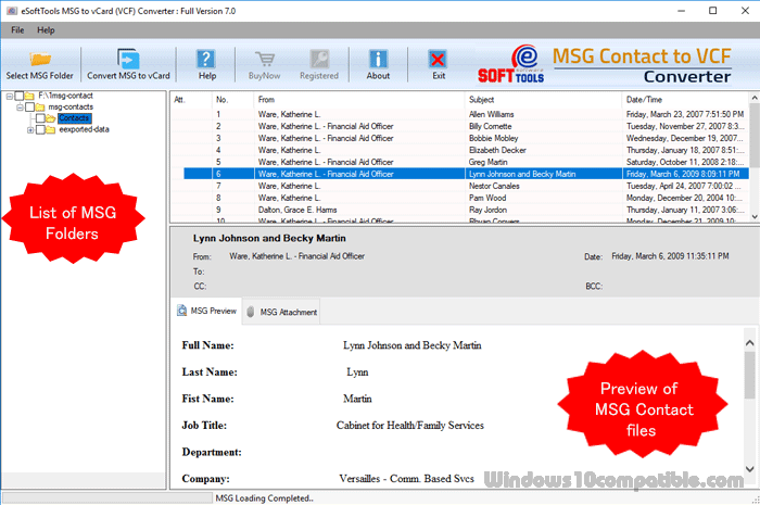eSoftTools MSG to vCard Converter 7 0 Free download